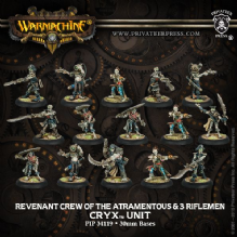 Cryx Revenant Crew of the Atramentous w/3 Riflemen (15)